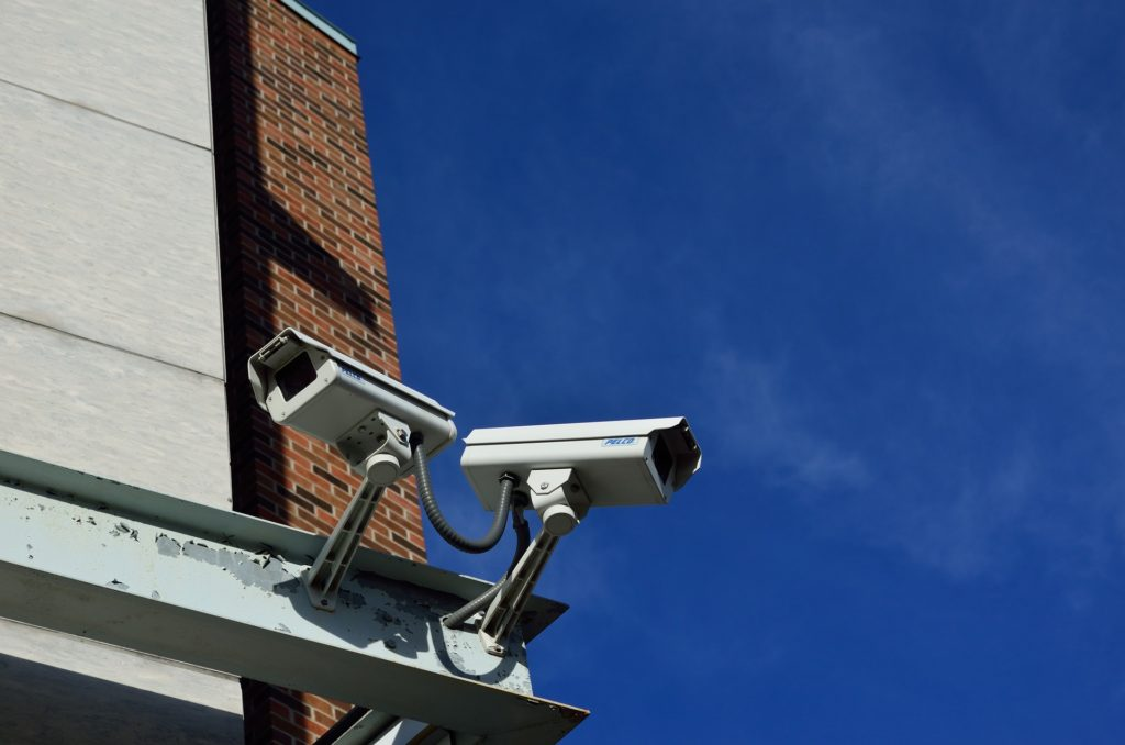 surveillance cameras, symbolizing what you can avoid with a VPN
